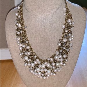 Stella & Dot Eve Bib pearl statement necklace